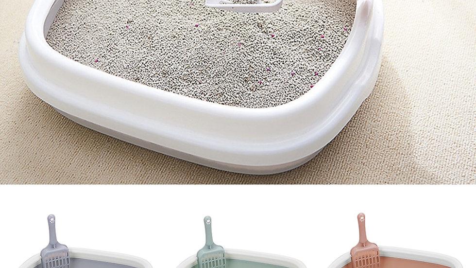 Plastic Anti Splash Pet Toilet With Scoop