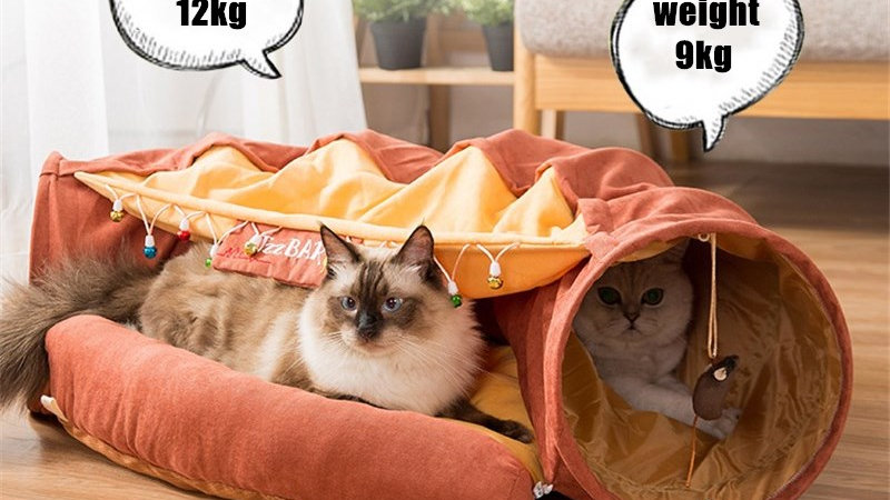 Foldable Cat Tunnel House