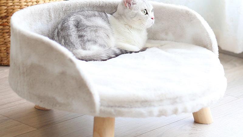 Coral Fleece Winter Warm Cat Sofa Mattress