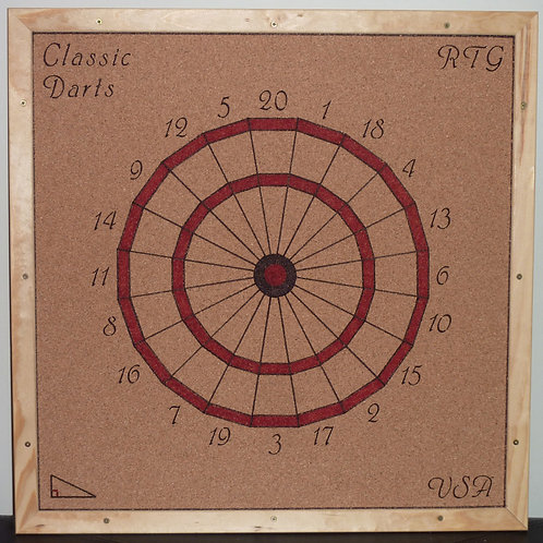 Classic Customizable Dartboard Value Pack-Included: 3 Darts, Shipping, and more!