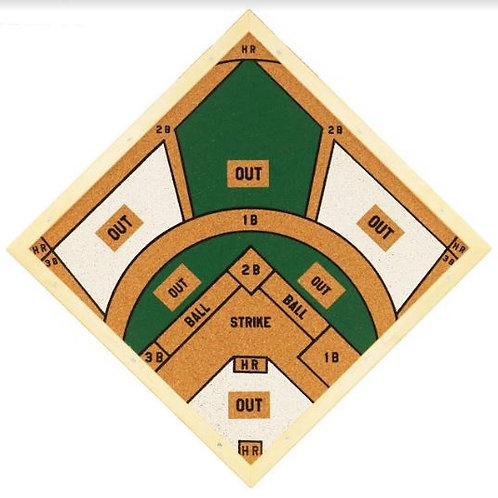 Baseball Dartboard Value Pack - Included: 3 Darts, Shipping, Tax and more!