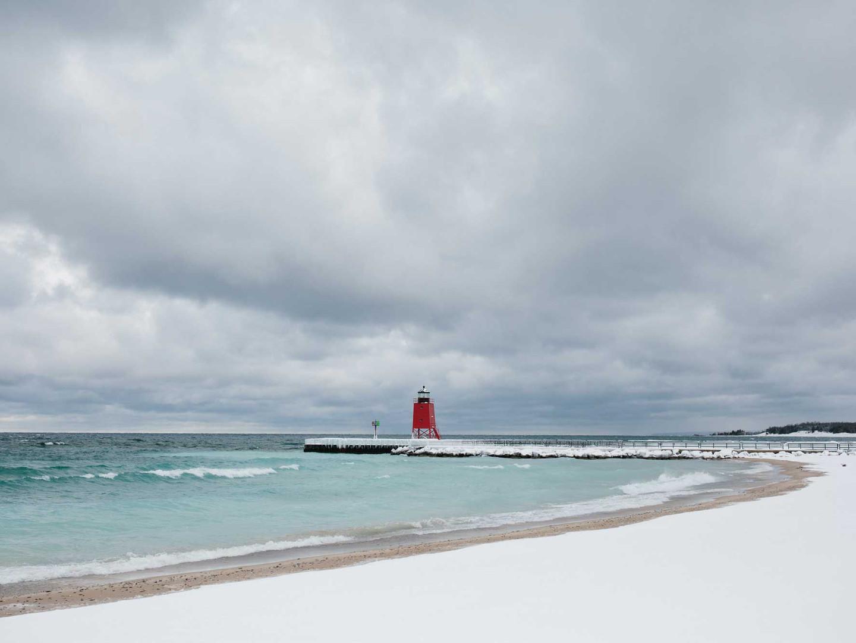 Charlevoix Lighthouse Winter