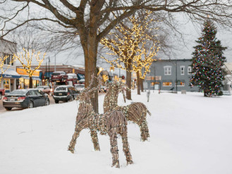Downtown Charlevoix Winter
