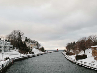Charlevoix Channel in Winter