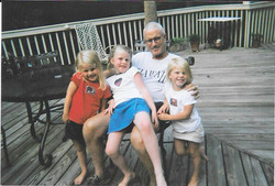 Linwood and granddaughters