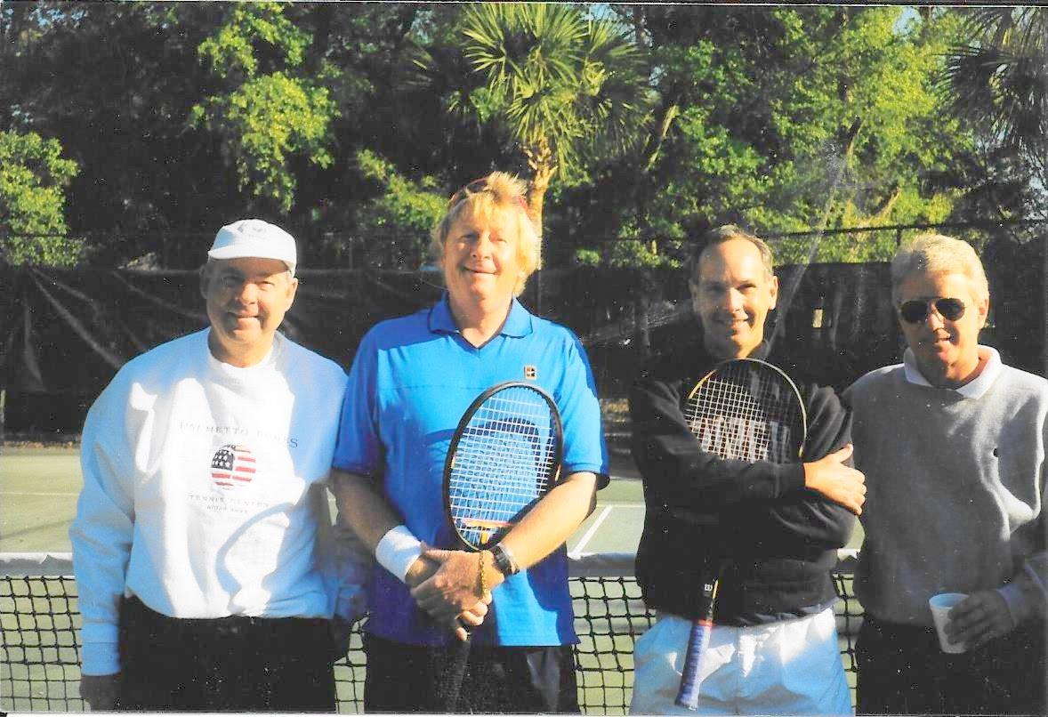 Playing tennis!