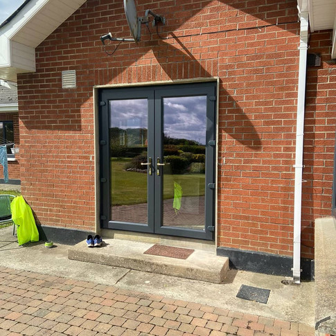 French doors in Anthracite grey in Drogheda