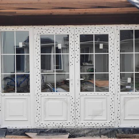 French door in new extension in Skerries