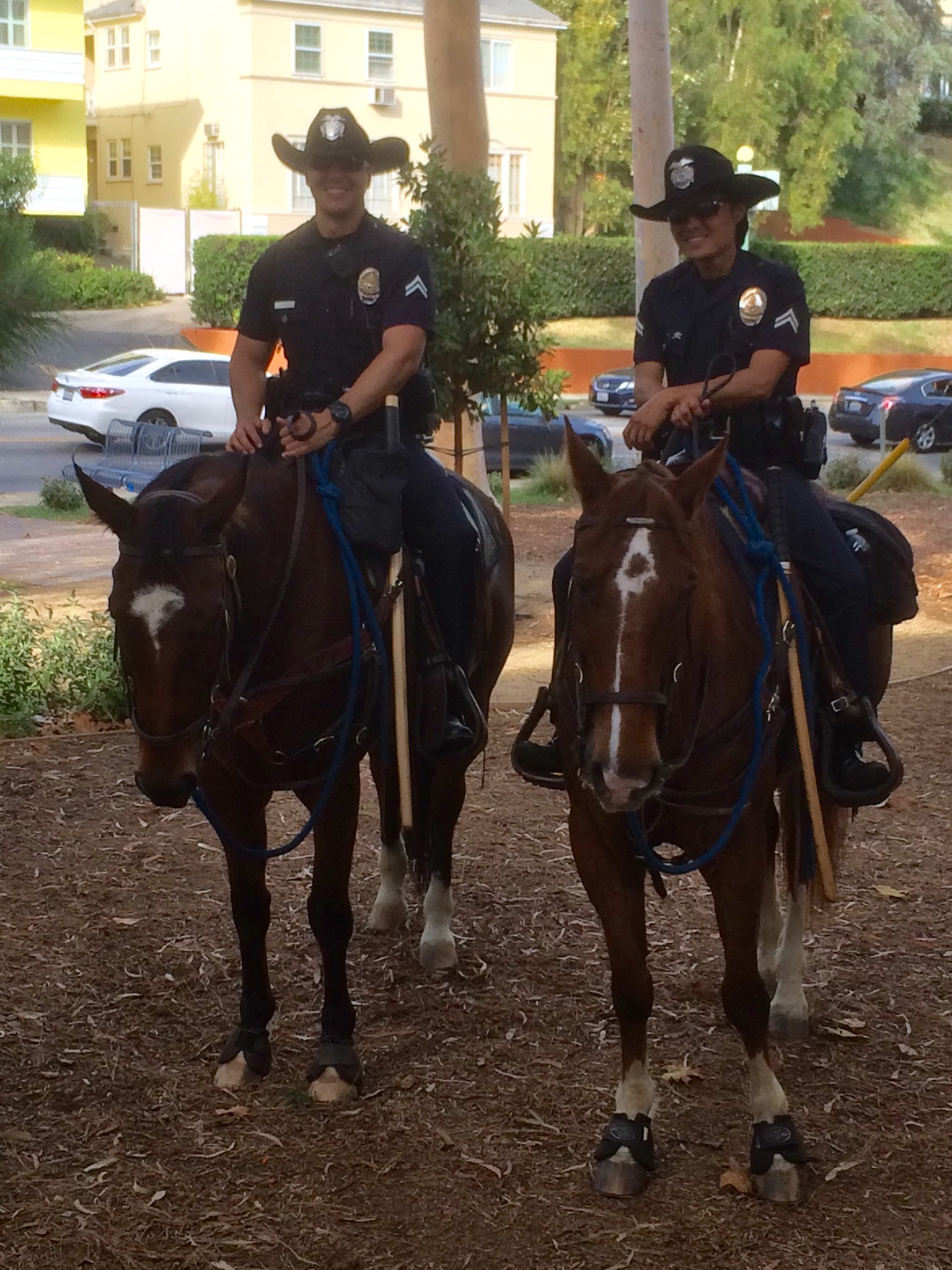 Officers keeping watch