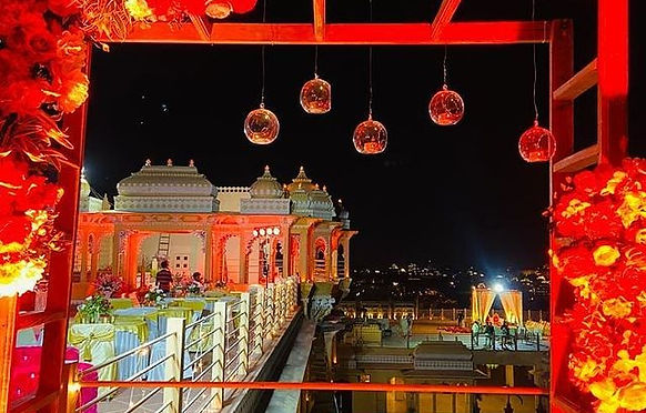 Wedding decoration at Chunda Palace