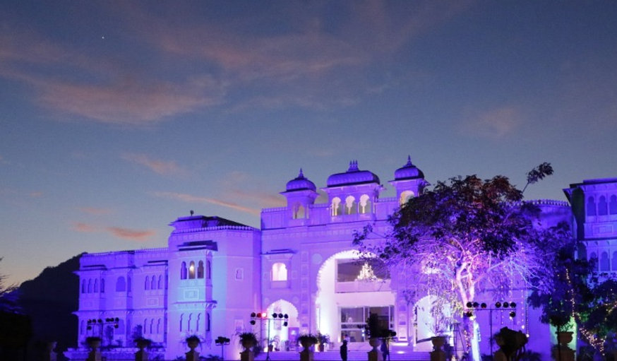 Destination wedding at Shouryagarh, Udaipur
