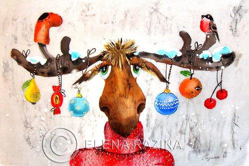 Weihnachtsideen des Elches