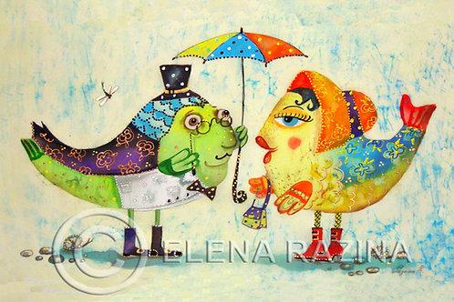 Regenschirm für Fische