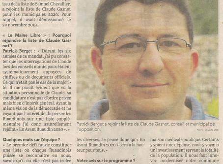 """Pourquoi Patrick Berget a rejoint """"En avant Ruaudin"""""""