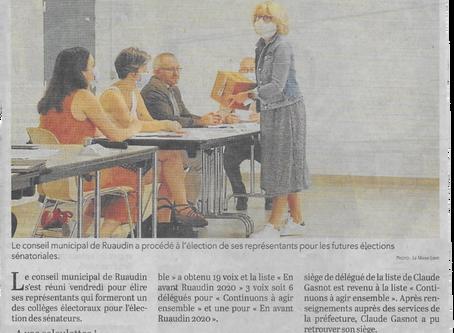 """Madame Le Maire souhaitait: """"pas de représentant d"""" 'En avant Ruaudin"""" aux sénatoriales!"""""""