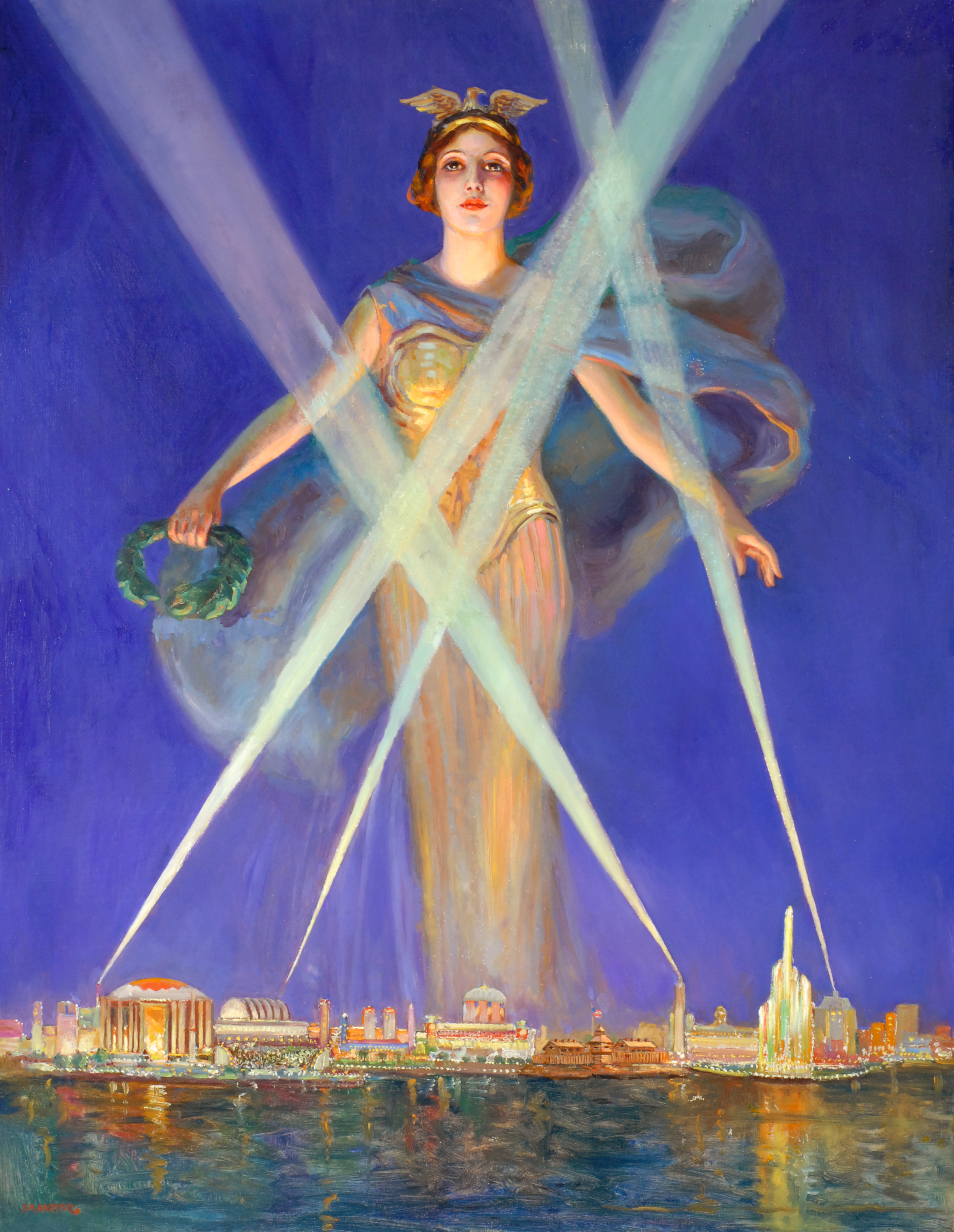 1933 Chicago World's Fair Iconic Work in Oil