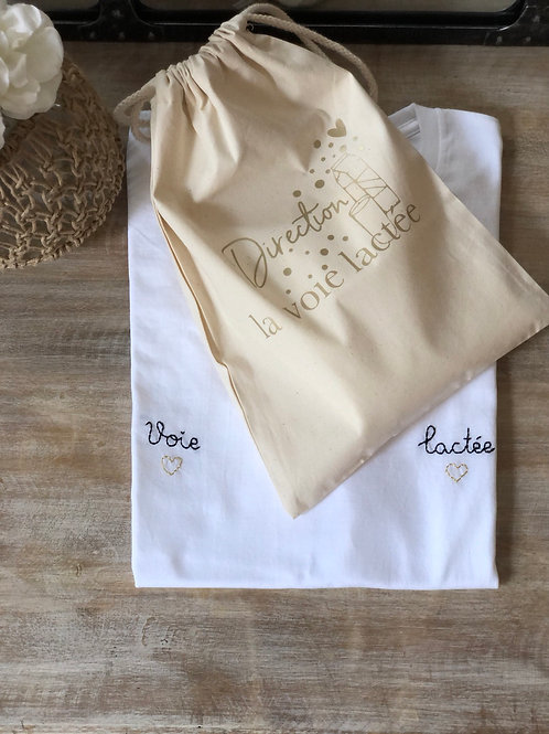 VOIE LACTÉE - Duo Pochon & T-shirt ou lange (au choix)