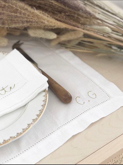 Set de table - 100% coton à personnaliser -Blanc