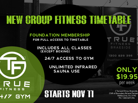 Group Fitness is launching Nov 11TH