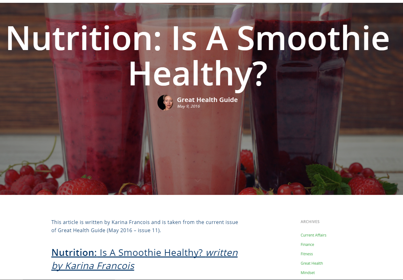 Is a smoothie healthy?