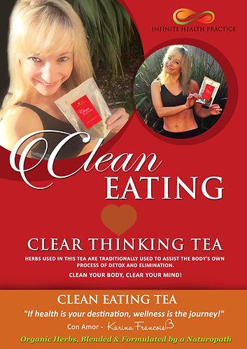 Infinite Health Practice | Karina Francois, clean eatig tea clean thinking tea
