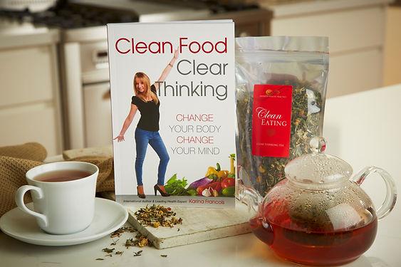 Infinite Health Practice | Clean eating tea and book