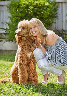 Infinite Health Practice | Karina Francois with poodle