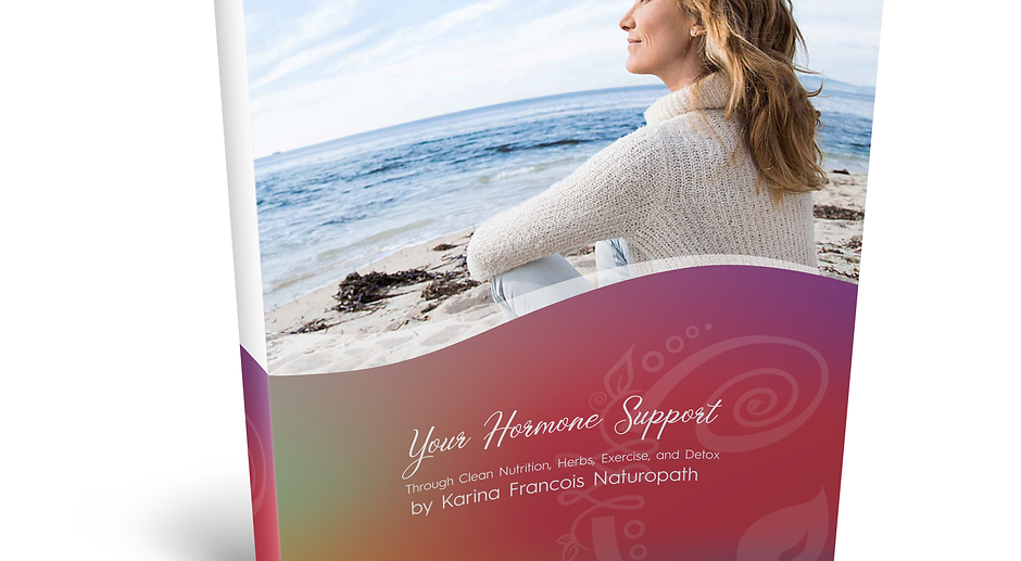 Your Hormone Support through clean nutrition, herbs, exercise, and detox.