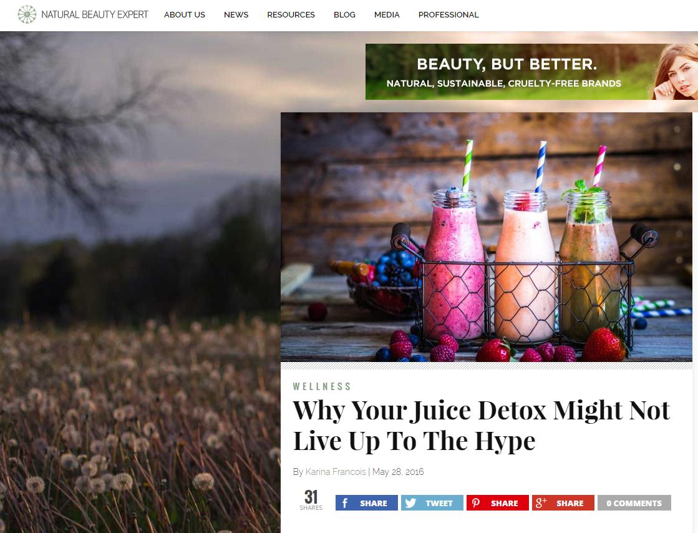 natural beauty juice detox.