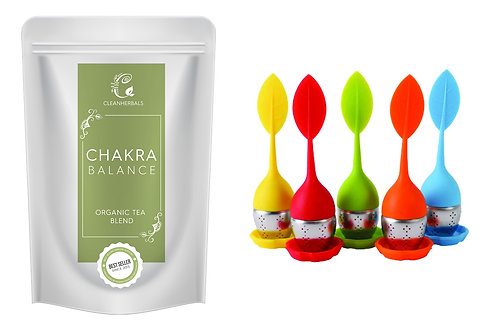 Chakra Balance Organic Tea Blend  (50g) with Infuser of your choice