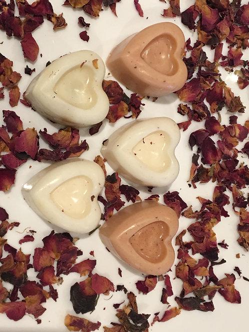 Love soap 5 pieces - heart shape (goats milk)