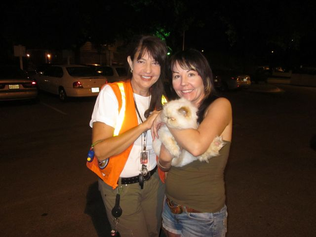 Carole and Found cat Menchi.jpg