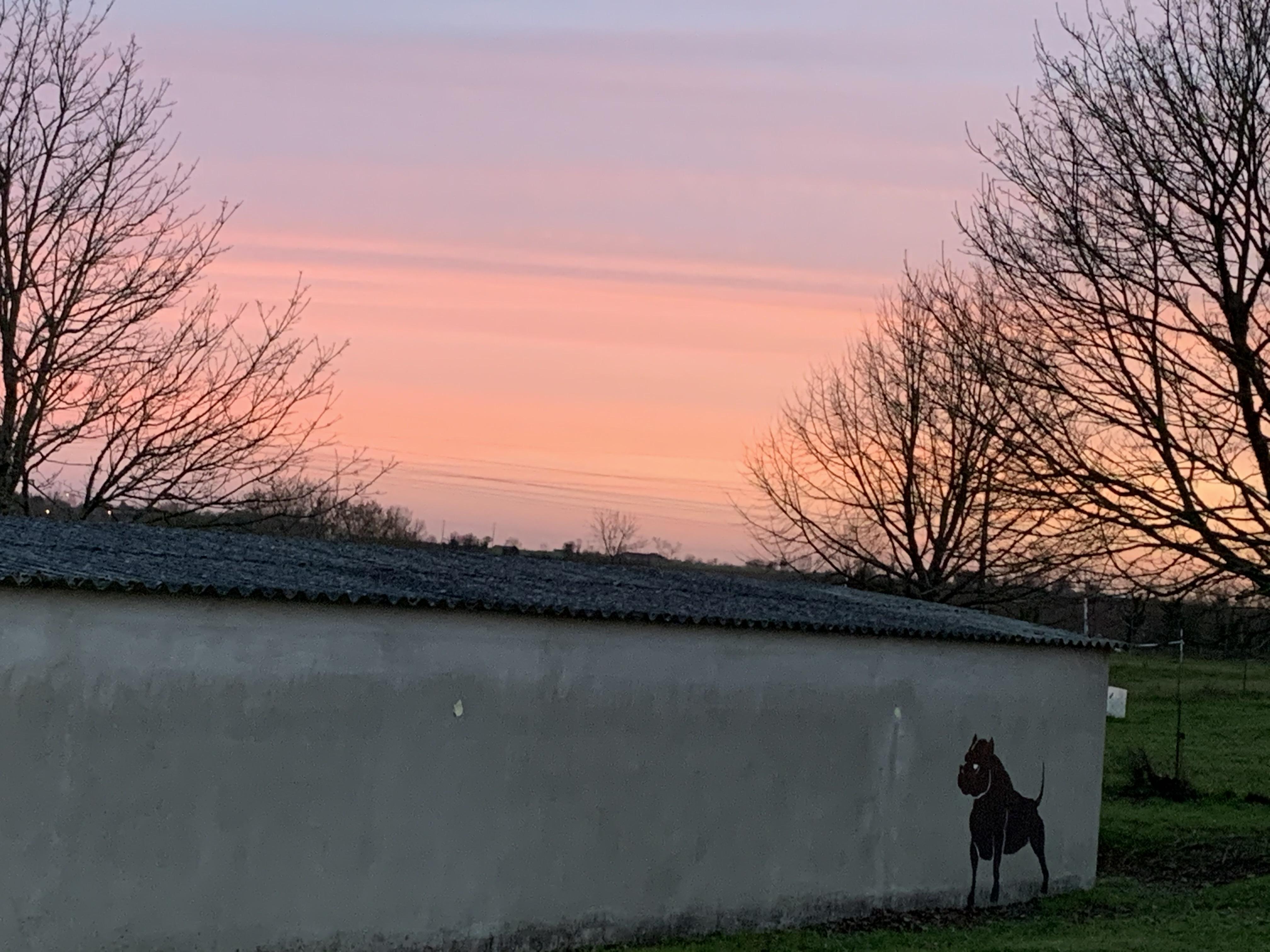 Au coucher du soleil ;)