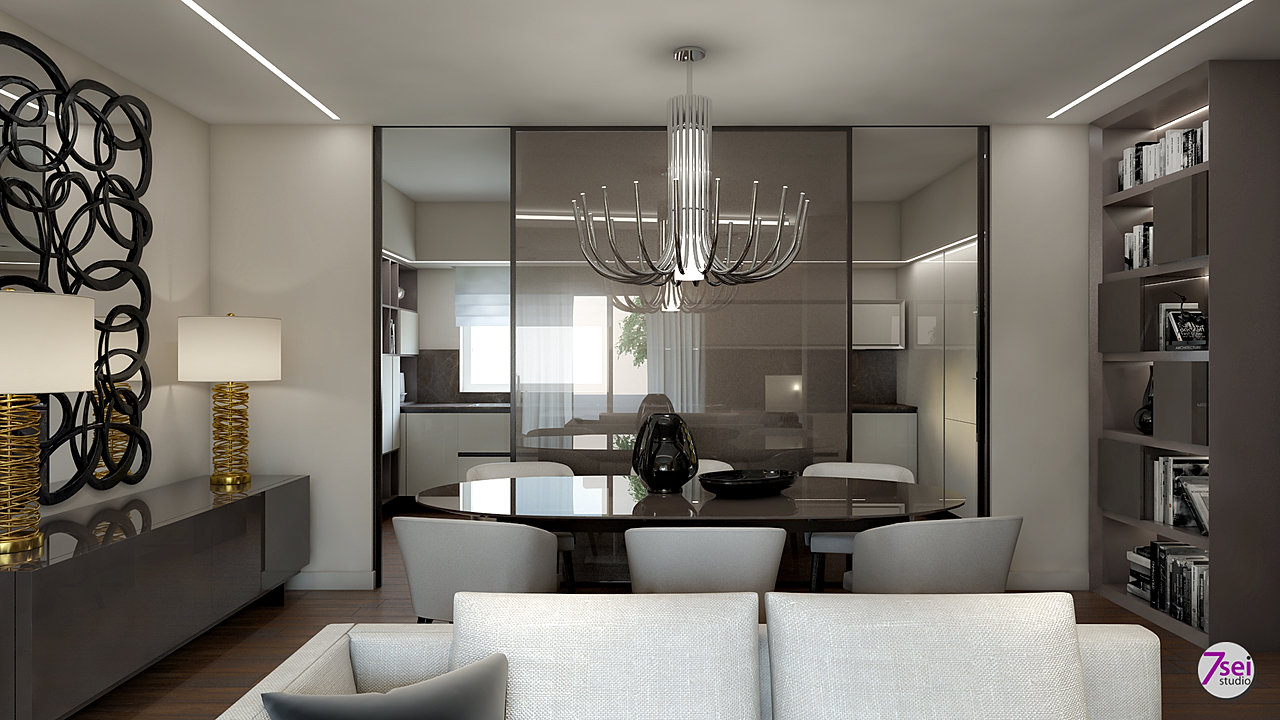Studio7sei arredatori d 39 interni interior design rendering for Arredatori d interni famosi