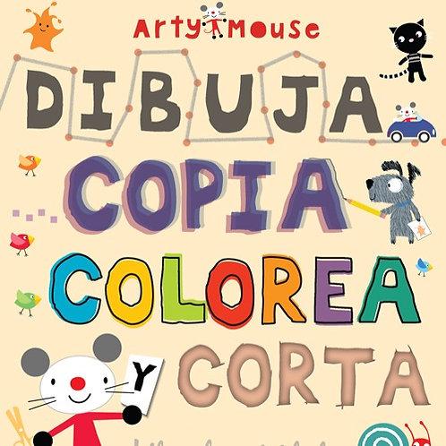 Arty mouse - Dibuja, copia, colorea y corta