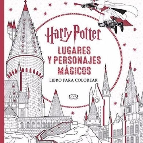 Harry Potter - Lugares y personajes mágicos (para pintar)