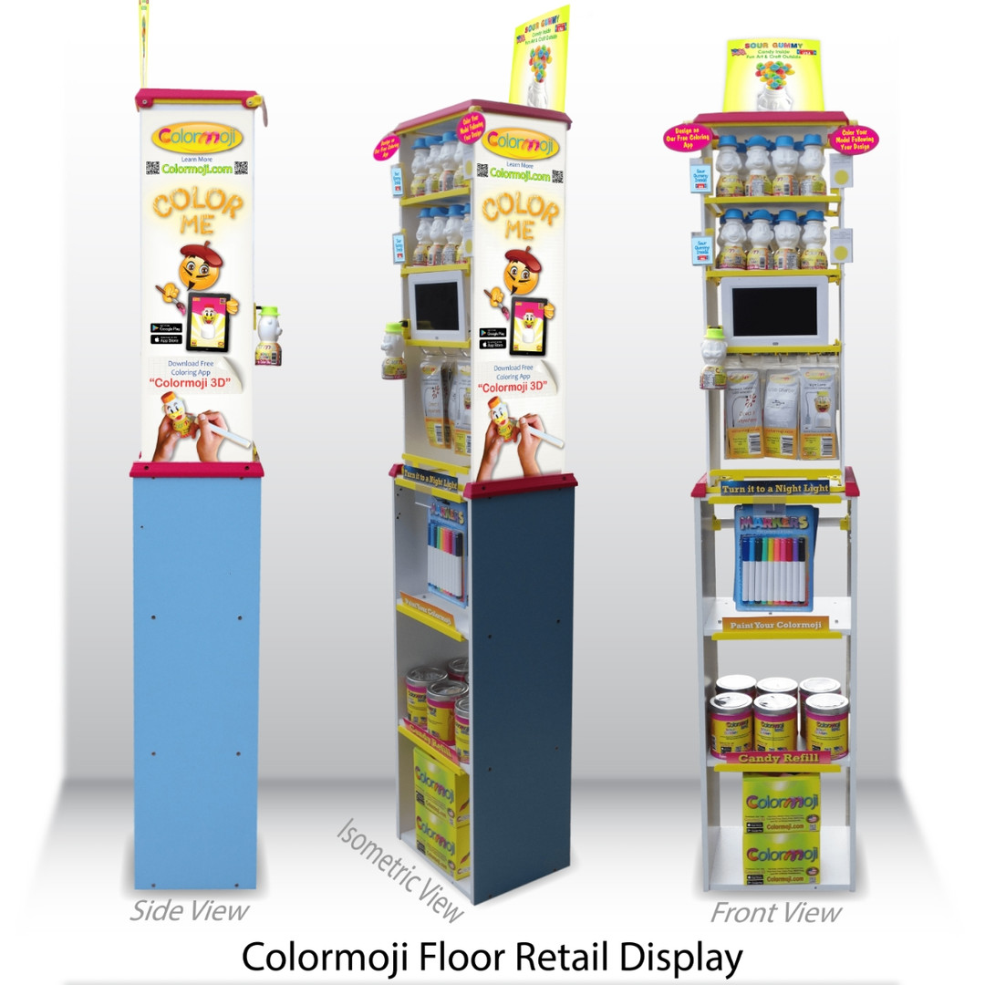 Colormoji Retail Display Views