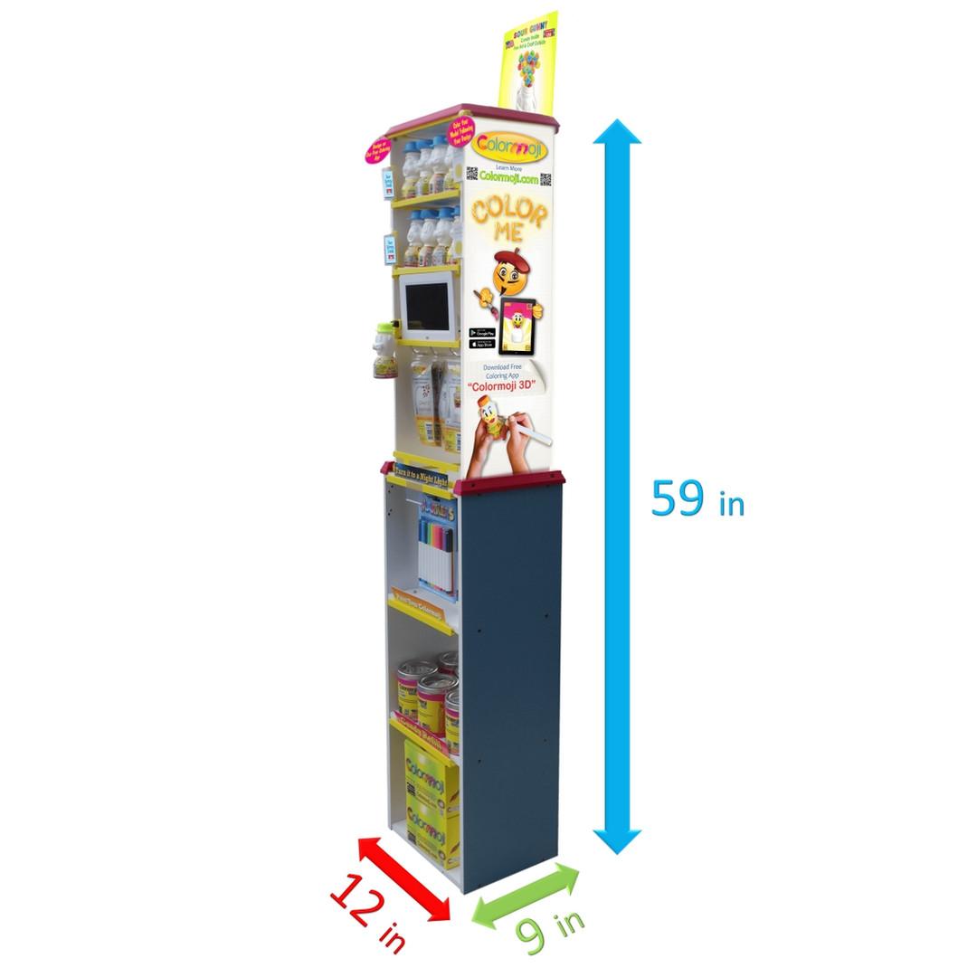 Colormoji Retail Display Dimensions