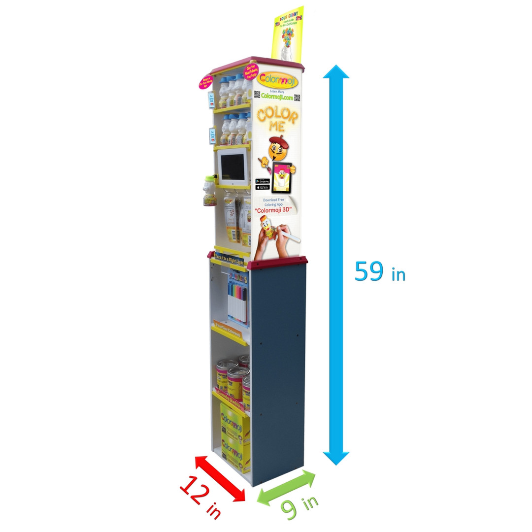 Colormoji Retail Display Dimensions