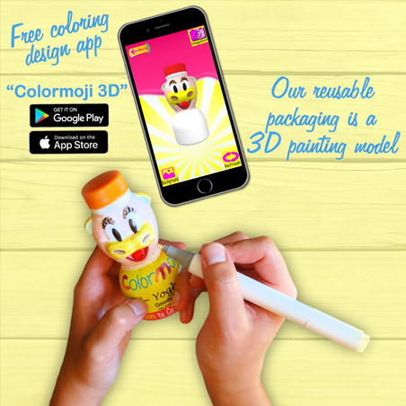 "Painting Yoghi Cow Using ""Colormoji 3D"" App"