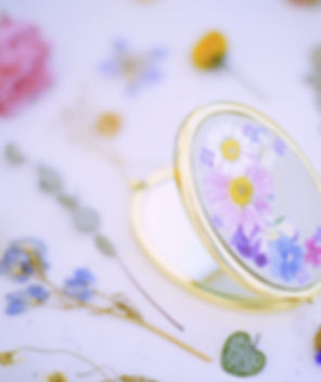 押し花ミラーコンパクト