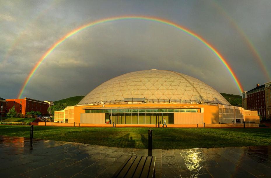 Double Rainbow Over Vines