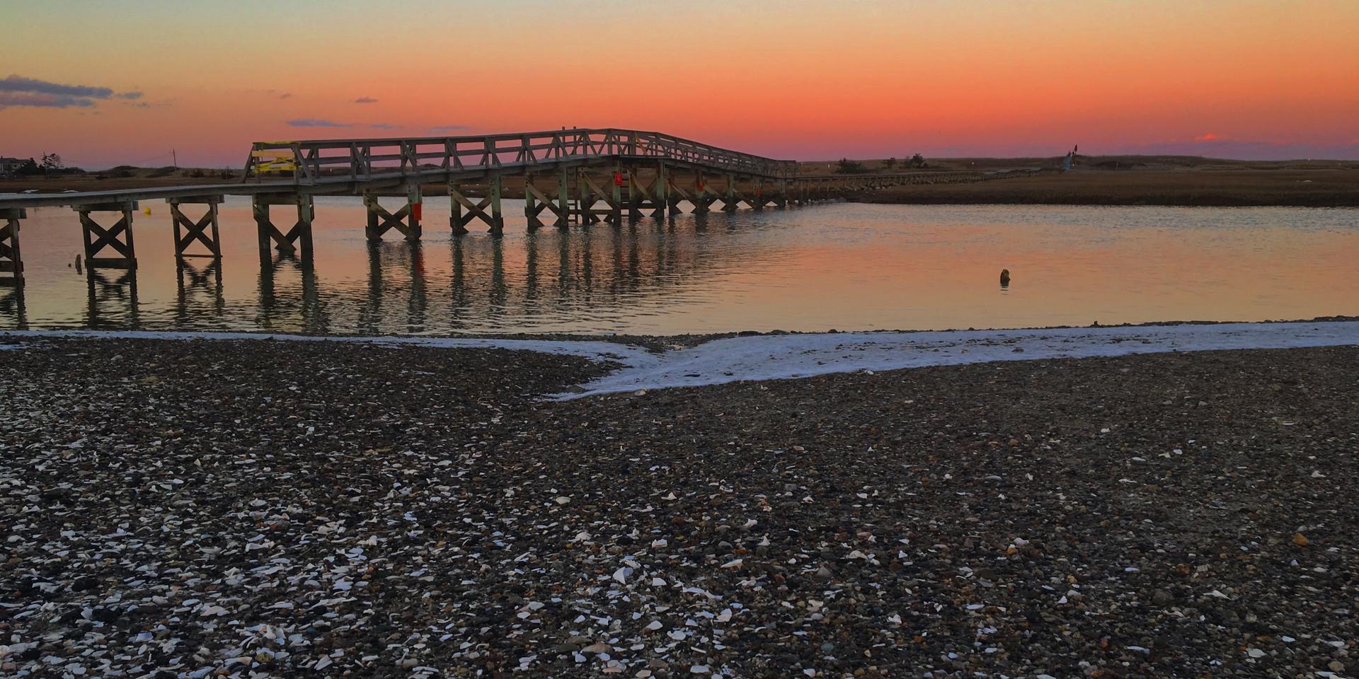 Winter Boardwalk Sunset