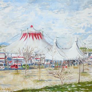 Circus 46X55cm Oil on canvas Spain 2004