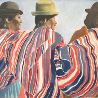 3 & the sea 107x72cm Acrylic on canvas Bolivia 2006