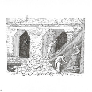 Toniná (excavating)