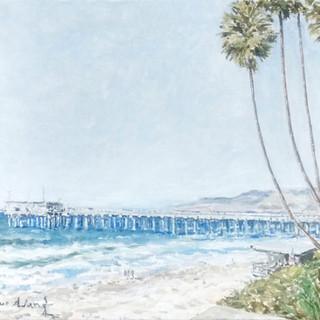 La Jolla Shores 45x65cm Oil on canvas USA 2014