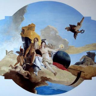 """""""La Verità Svelata dal Tempo"""" (truth shown through time) Oil on canvas 100x130cm Mexico 2009"""