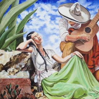 Serenata Mexicana 153x122cm Acrylic on canvas USA 2015