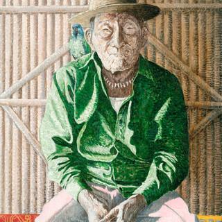 Kuna healer 65x81cm Oil on canvas Panama 2008
